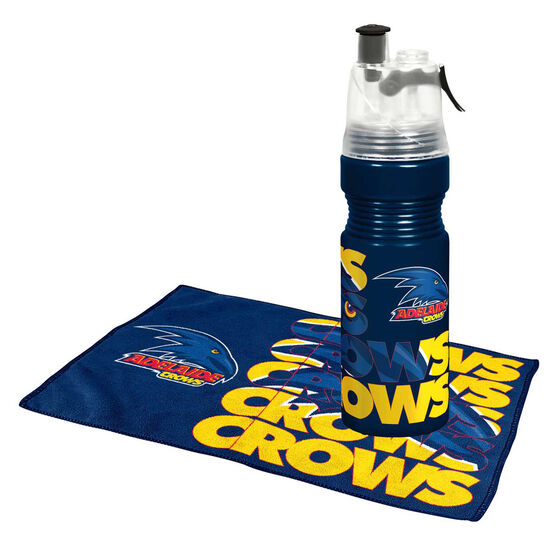 Adelaide Crows Water Bottle and Gym Towel Pack, , rebel_hi-res