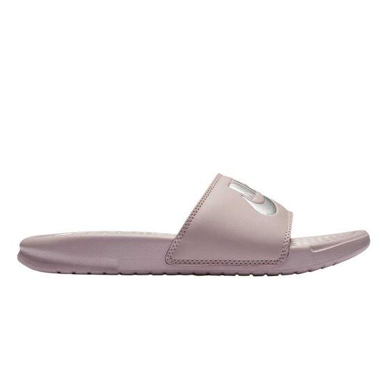 aa8198907b40 Nike Benassi Just Do It Womens Slides Pink US 10