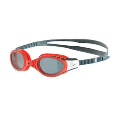 Speedo Futura Biofuse Polarised Senior Swim Goggles Red OSFA, , rebel_hi-res
