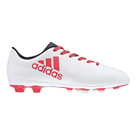 35b07f9cc48 adidas X 17.4 FXG Junior Football Boots Grey   Red US 11 Junior ...
