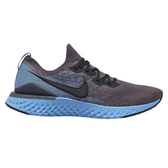 Nike Epic React Flyknit 2 Mens Running Shoes Grey / Blue US 12, Grey / Blue, rebel_hi-res