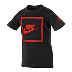 Nike Boys Futura Camo Knit Tee Black 4, Black, rebel_hi-res