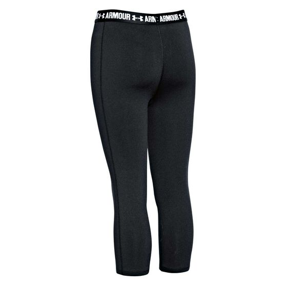 Under Armour Girls HeatGear Capri Tights Black XL, Black, rebel_hi-res