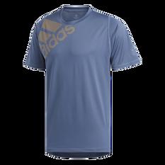 adidas Mens FreeLift Badge of Sport Graphic Tee Navy S, Navy, rebel_hi-res