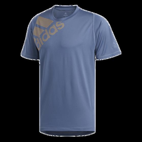 adidas Mens FreeLift Badge of Sport Graphic Tee, Navy, rebel_hi-res