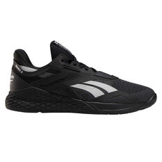 Reebok Nano X Mens Training Shoes Black/Silver US 7, Black/Silver, rebel_hi-res
