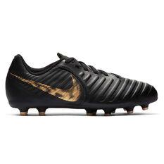 Nike Tiempo LegendX VII Club Kids Football Boots Black / Gold US 10, Black / Gold, rebel_hi-res