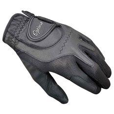 Optima Soft Feel Mens Golf Glove Black Left Hand, Black, rebel_hi-res