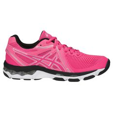 Asics Gel Netburner Ballistic Womens Netball Shoes Pink / Black US 6, Pink / Black, rebel_hi-res