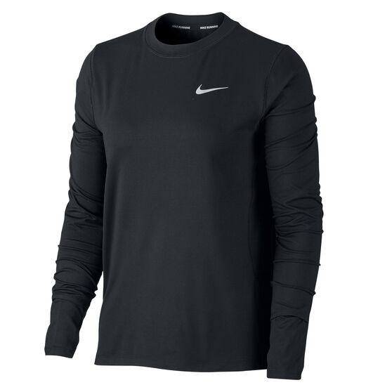 Nike Womens Running Crew Top, Black, rebel_hi-res