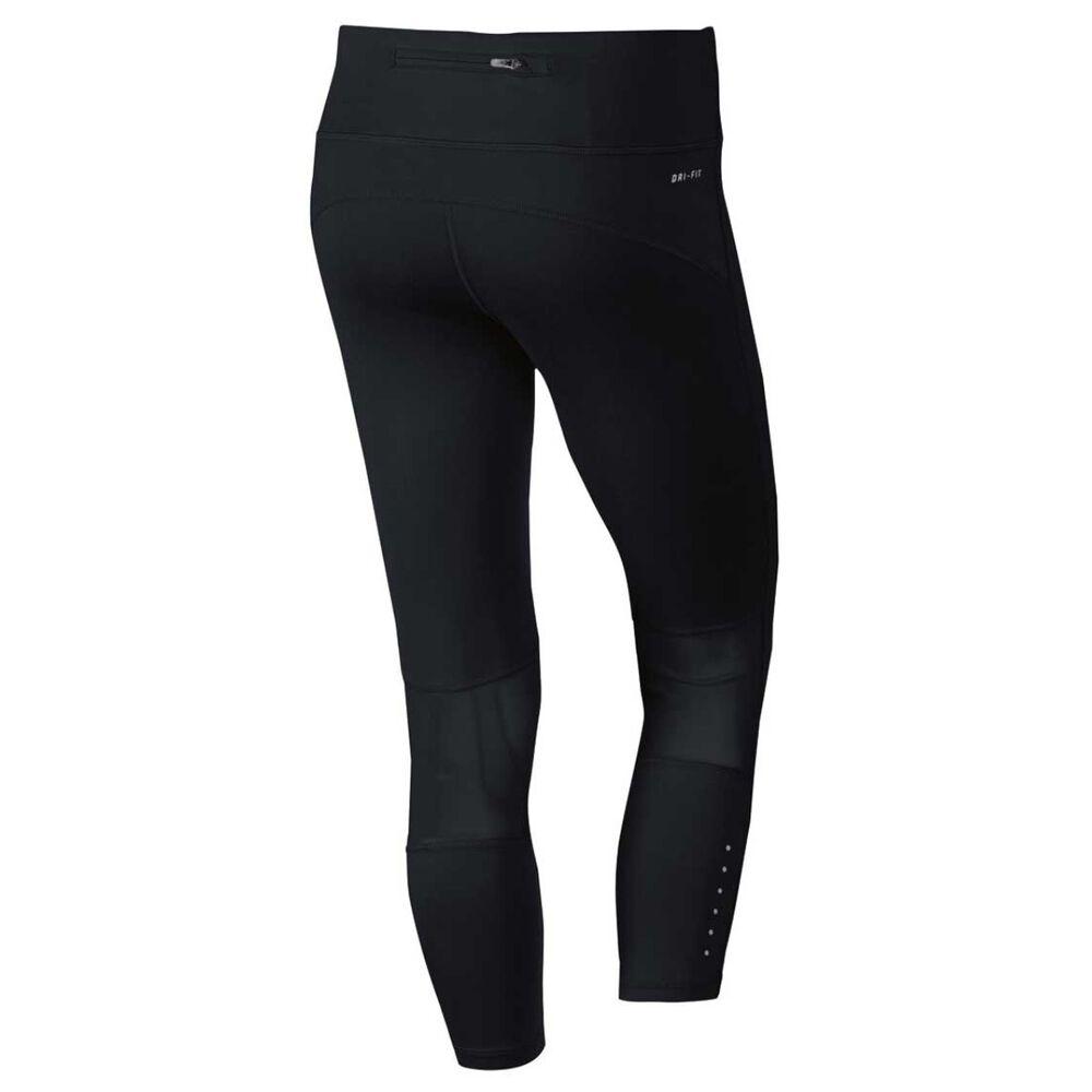 01ddb99e52356 Nike Womens Epic Run Crop Tights Black XS, Black, rebel_hi-res