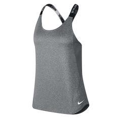 Nike Womens Dri FIT Elastika Tank Grey XS, Grey, rebel_hi-res
