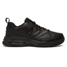New Balance WX624AB V4 D Womens Cross Training Shoes Black US 6, Black, rebel_hi-res