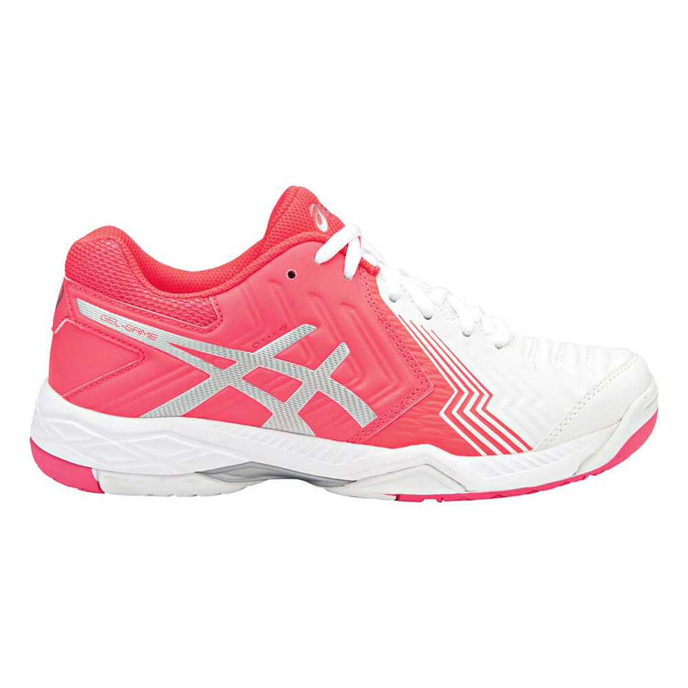 992e53b2049a1 Asics Gel Game Womens Netball Shoes Pink   White US 9