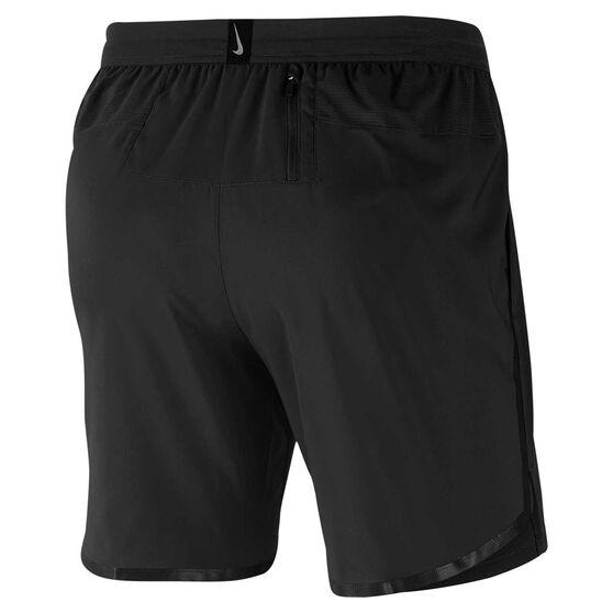 Nike Mens Air Flash Flex Stride 7in Running Shorts Black S, Black, rebel_hi-res
