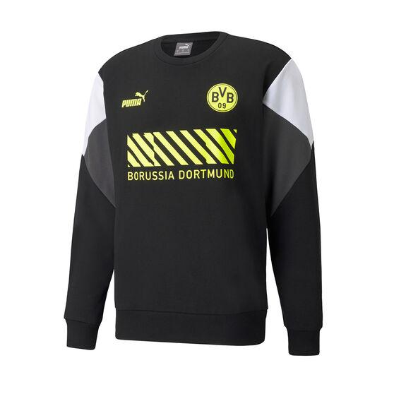 Borussia Dortmund 2021/22 Men's Crew Sweatshirt, Black, rebel_hi-res