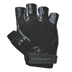 Harbinger Mens Pro Series Weight Gloves Black S, Black, rebel_hi-res