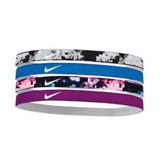 Nike Girls Assorted Headbands (4 Pack) Black / Mint / Blue OSFA, , rebel_hi-res