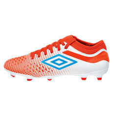 Umbro Velocita IV Club Kids Football Boots White / Blue US 5, White / Blue, rebel_hi-res