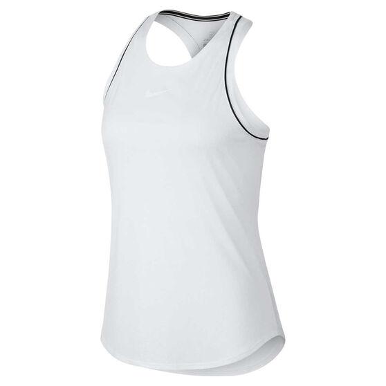 NikeCourt Womens Dri-FIT Tank, White / Black, rebel_hi-res