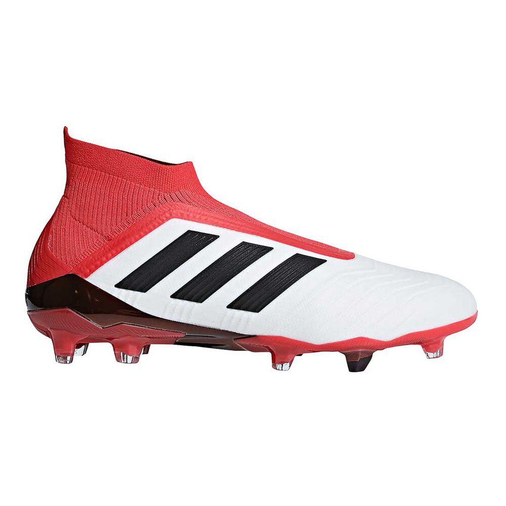 adidas Predator 18+ FG Mens Football Boots White   Black US 9 Adult ... 75b47366c30d1