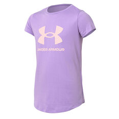 Under Armour Girls Sportstyle Tee Purple XS, Purple, rebel_hi-res