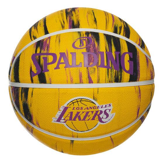 Spalding NBA Team Los Angeles Lakers Marble Basketball, , rebel_hi-res