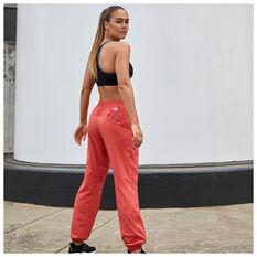 adidas Womens Woven Badge Of Sport Training Pants, Red, rebel_hi-res