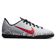 Nike Mercurial Vapor XII Club Neymar Jr Kids Indoor Soccer Shoes White / Black US 1, White / Black, rebel_hi-res