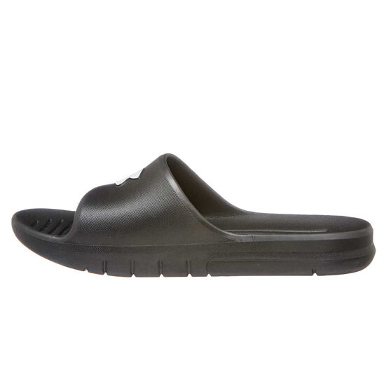 Under Armour Core Protect The House Mens Slides, Black / White, rebel_hi-res