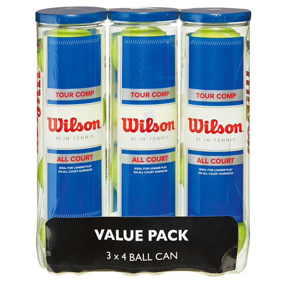 Wilson Tour Competition 4 Tennis Ball Pack, , rebel_hi-res