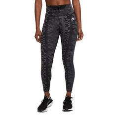 Nike Air Womens Epic Fast 7/8 Printed Running Tights Black M, Black, rebel_hi-res