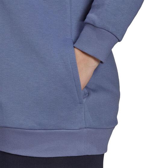 adidas Womens Essentials Logo Fleece Hoodie Plus, Purple, rebel_hi-res