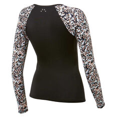 Roxy Womens Fitness Long Sleeve Rash Vest Black M, Black, rebel_hi-res