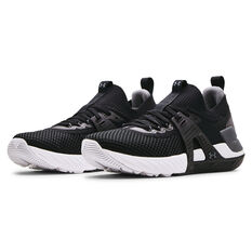 Under Armour Project Rock 4 Mens Training Shoes, Black/White, rebel_hi-res