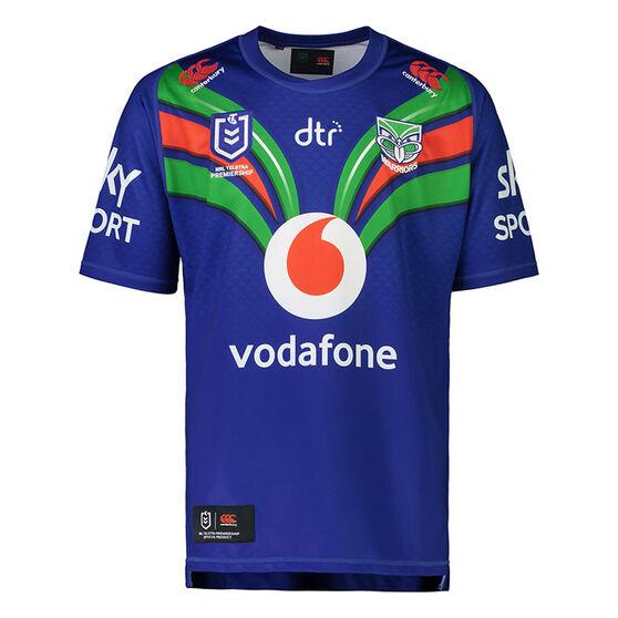 New Zealand Warriors 2021 Mens Home Jersey Blue S, Blue, rebel_hi-res