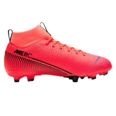 Nike Mercurial Superfly VII Academy MG Kids Football Boots Black / Red US 1, Black / Red, rebel_hi-res
