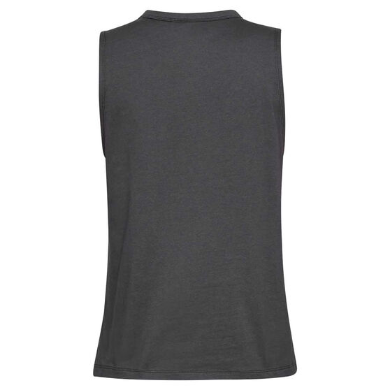 Under Armour Womens Sportstyle Graphic Muscle Tank Grey XS, Grey, rebel_hi-res
