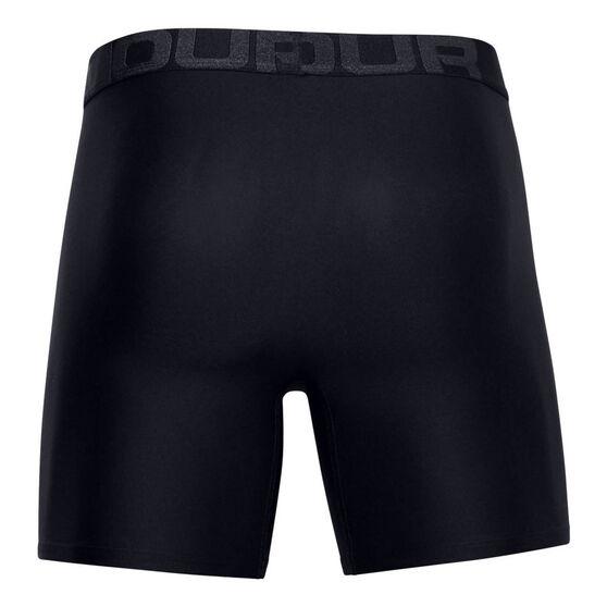 Under Armour Mens Tech 6in Underwear, Black, rebel_hi-res