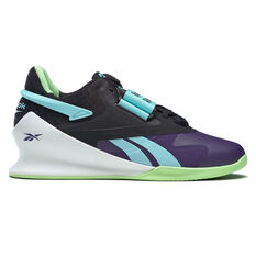 Reebok Legacy Lifter II Womens Training Shoes Black/Mint US 6, Black/Mint, rebel_hi-res