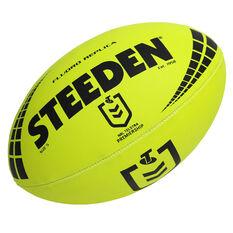 Steeden NRL Premiership Fluro Replica Rugby League Ball, , rebel_hi-res