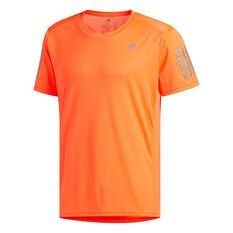 adidas Mens Own The Run Tee Orange S, , rebel_hi-res