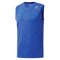 Reebok Mens Gym Ready Tank Blue S, Blue, rebel_hi-res