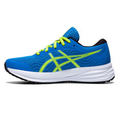 Asics Patriot 12 Kids Running Shoes Blue US 4, Blue, rebel_hi-res