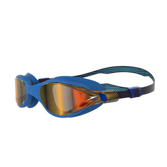 Speedo V Class VUE Mirror Goggles Navy/Gold, Navy/Gold, rebel_hi-res