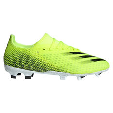 adidas X Ghosted .3 Football Boots Yellow US Mens 7 / Womens 8, Yellow, rebel_hi-res