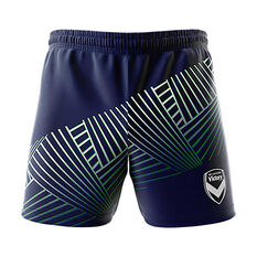 Melbourne Victory 2018/19 Mens  Geo Squad Training Shorts Navy S, Navy, rebel_hi-res