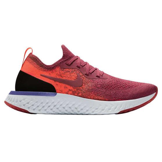 Nike Epic React Flyknit Womens Running Shoes, Red / White, rebel_hi-res
