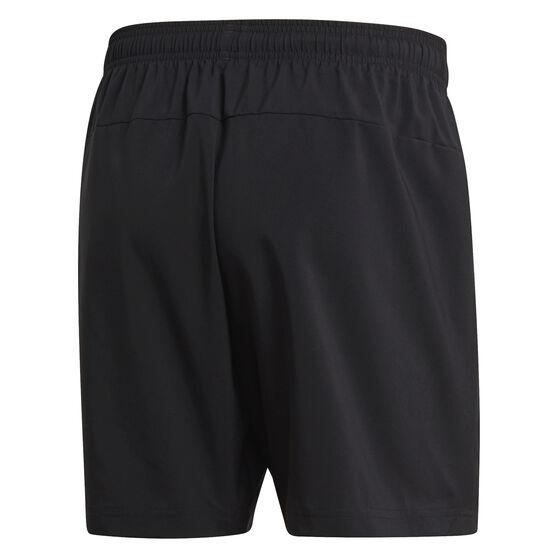 adidas Mens Essential Chelsea Shorts Black / White S, Black / White, rebel_hi-res