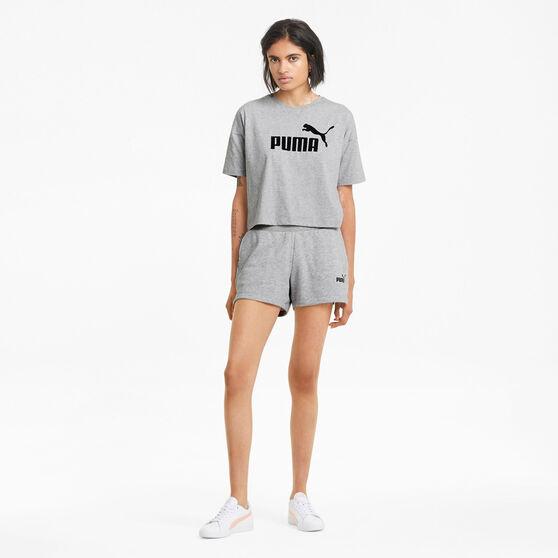 Puma Womens Essentials Logo Tee, Grey, rebel_hi-res